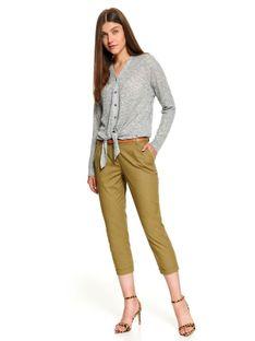 Printowane spodnie high waist