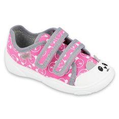 Befado obuwie dziecięce  907P131 różowe szare