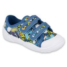 Befado obuwie dziecięce  907P121 niebieskie