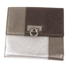 Mały skórzany portfel Gancini