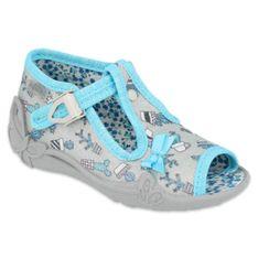 Befado obuwie dziecięce 213P127 niebieskie szare