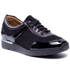 Sneakersy SAGAN - 4450 Czarny Welur/Czarny Lakier