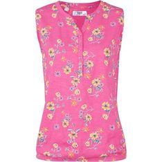 Różowa bluzka damska Bonprix z dekoltem v