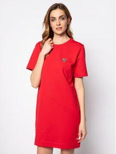 LOVE MOSCHINO Sukienka codzienna W584781E 2124 Czerwony Regular Fit