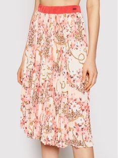 Marciano Guess Spódnica plisowana Print 1GG700 6063A Różowy Regular Fit