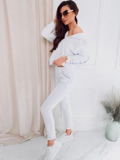 Komplet damski bluza + spodnie 001ZLR - biały