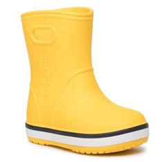 Kalosze CROCS - Crocband Rain Boot K 205827 Yellow/Navy