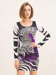 Just Cavalli Sukienka codzienna S04CT0945 Kolorowy Slim Fit