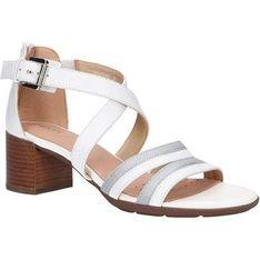 Sandały damskie Geox bialy