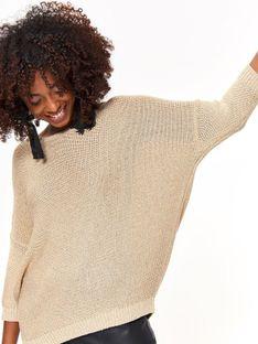 Luźny sweter z zamkiem