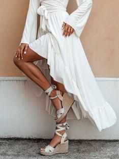 Spódnica damska 008GLR - biała
