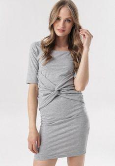 Szara Sukienka Diothise