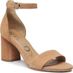 Sandały damskie Ryłko beżowe ze skóry