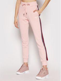 Guess Spodnie dresowe O1RA32 FL03Q Różowy Regular Fit