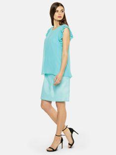 Dwuczęściowa sukienka z plisowanymi rękawami L`AF WIN