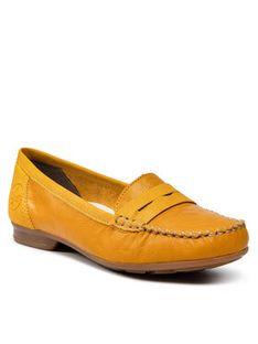 Rieker Mokasyny 40054-68 Żółty