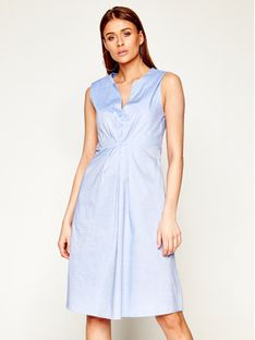 Manila Grace Sukienka codzienna A503CU Niebieski Regular Fit