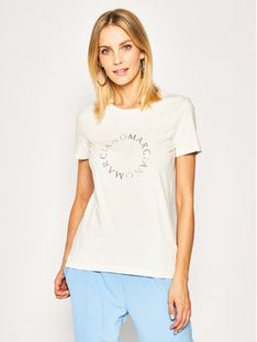 Marciano Guess T-Shirt Iced Logo Tee 0GG602 6808Z Beżowy Regular Fit