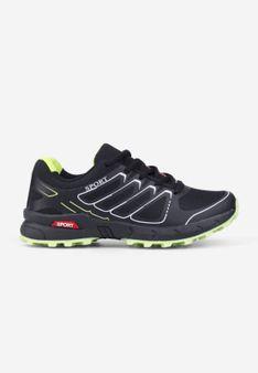 Buty sportowe czarno-zielone Liane