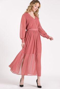 Sukienka maxi w drobny wzór