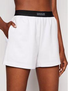 Calvin Klein Jeans Szorty materiałowe Milano J20J215564 Biały Regular Fit