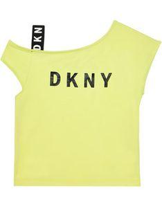 DKNY Bluzka D35R44 S Żółty Regular Fit