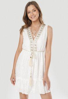 Biała Sukienka Nemennilla
