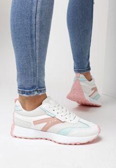 Biało-Różowe Buty Sportowe Essi
