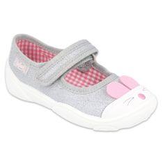 Befado obuwie dziecięce 209P033 różowe szare