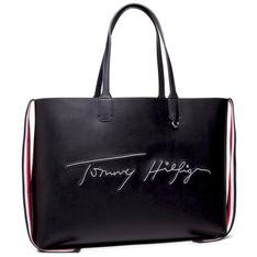 Torebka TOMMY HILFIGER - Iconic Tommy Tote Signature AW0AW09707 BDS