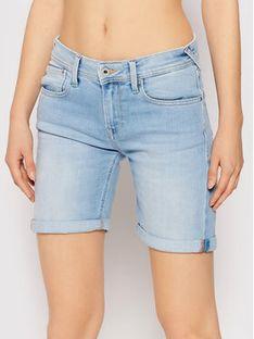 Pepe Jeans Szorty jeansowe Poppy Pride PL800910 Niebieski Regular Fit