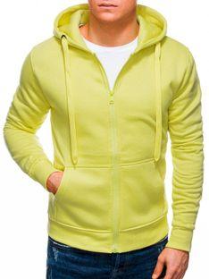 Bluza męska rozpinana z kapturem 895B - żółta