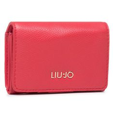 Mały Portfel Damski LIU JO - Credit Card Case AA1206 E0017 True Red 91664