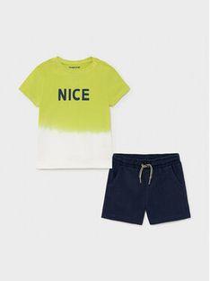 Mayoral Komplet T-Shirt i szorty sportowe 1669 Kolorowy Regular Fit