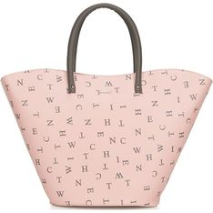 Shopper bag Wittchen ze skóry ekologicznej z nadrukiem bez dodatków na ramię