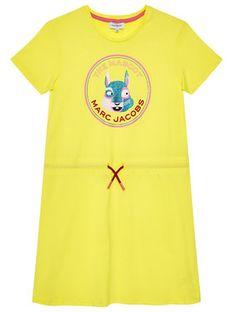 Little Marc Jacobs Sukienka codzienna W12359 D Żółty