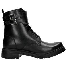 Wojas Obuwie Z Charakterem: Czarne Damskie Biker Boots