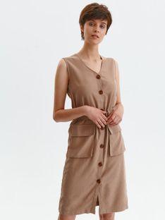 Sukienka z guzikami i paskiem