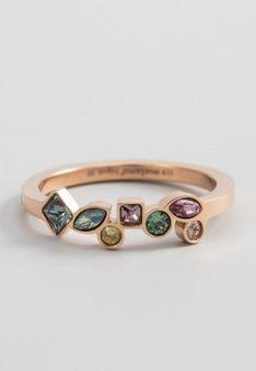 Melano Jewelry - Pierścionek - Złocenie: różowe złoto - wielokolorowy