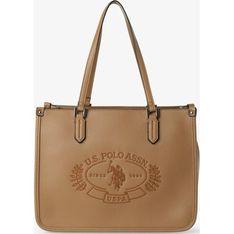 U.S Polo Assn. shopper bag na ramię skórzana mieszcząca a8