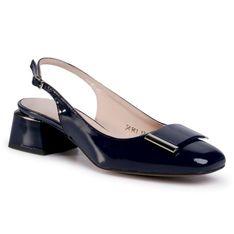 Sandały SAGAN - 4141 Granatowy Lakier