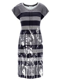 Sukienka w paski z florystycznym nadrukiem Potis & Verso LYRA