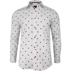 Koszula męska biała Grzegorz Moda z długimi rękawami