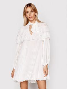 Babylon Sukienka koktajlowa N_E00724 Biały Relaxed Fit