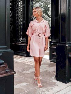 Sukienka damska 006DLR - różowa