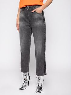 Diesel Jeansy D-Aryel 00SE6T 0096I Szary Straight Fit