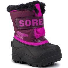 Buty zimowe dziecięce Sorel na rzepy śniegowce