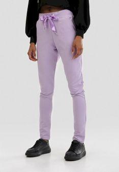 Jasnofioletowe Spodnie Dresowe Riverflare