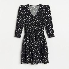 Reserved - Sukienka mini w grochy - Wielobarwny