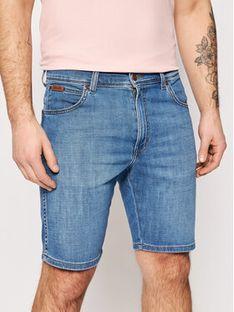 Wrangler Szorty jeansowe Texas W11CQ187W Niebieski Slim Fit